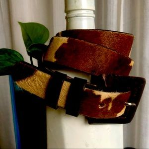 Vintage Cowhide Leather Western Belt